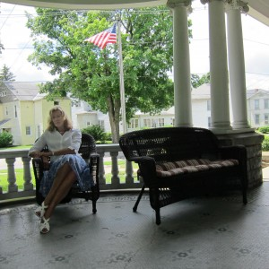 Von on Warren G Harding's porch