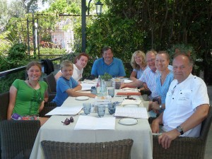 Megan, Thomas, William, John, Von, Gwyn, Lucy, Nick in Sorrento